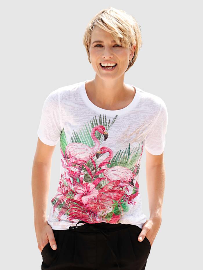 T-shirt à imprimé tropical