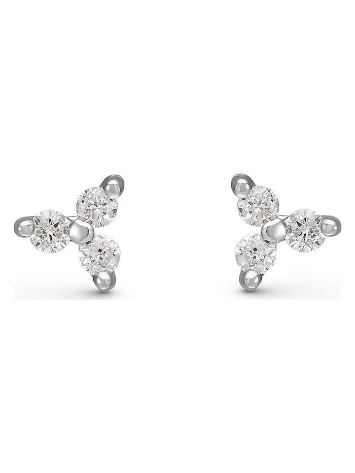 CHRIST Diamonds CHRIST Diamonds Damen-Ohrstecker 375er Weißgold 6 Diamant, weißgold