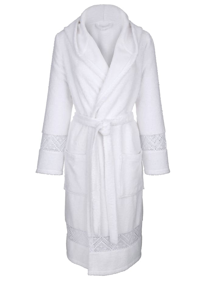 Dressing gown made from terrycloth