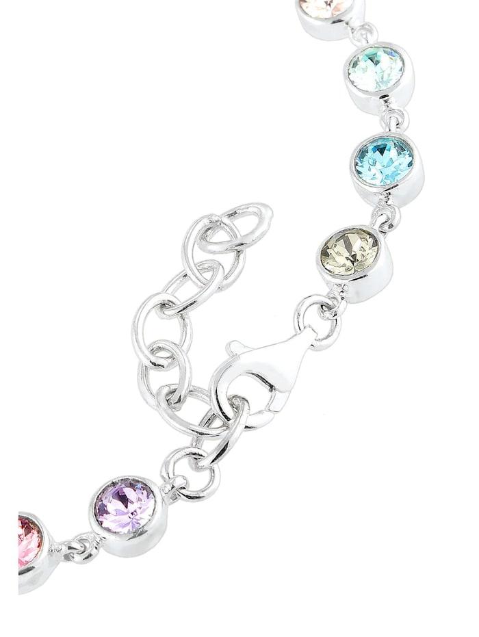 Armband Multi Kristalle 925 Sterling Silber