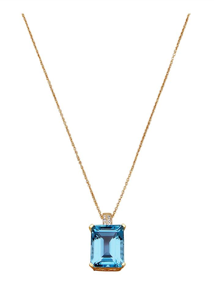 Hanger met ketting, Blauw