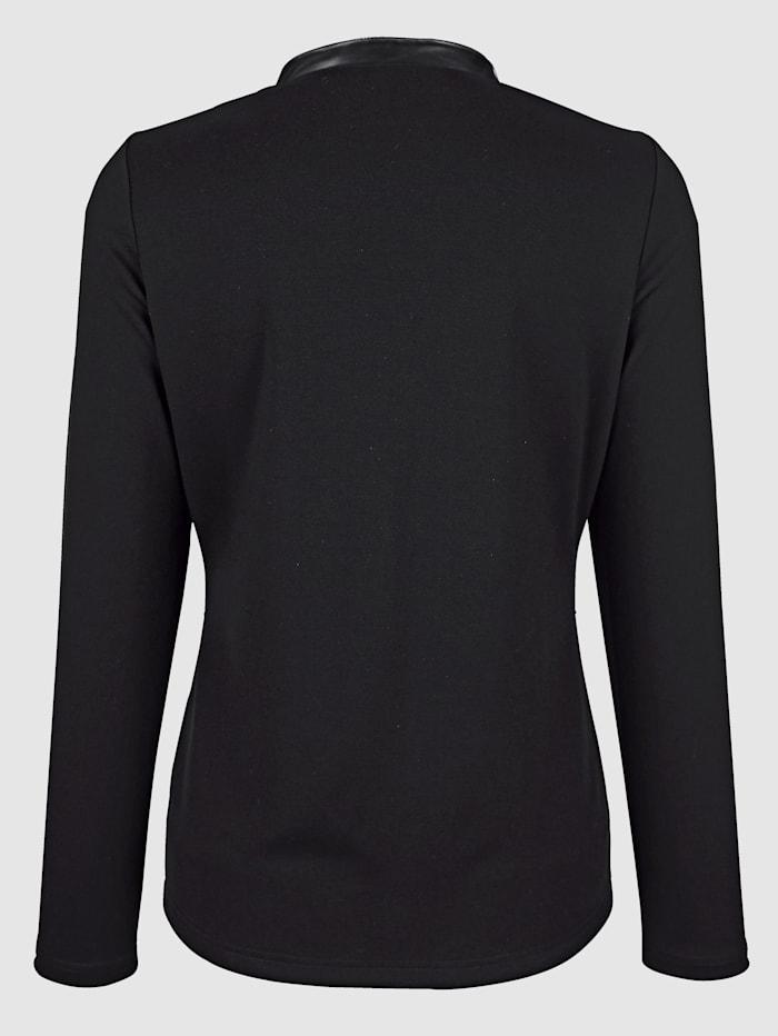 Veste en jersey à empiècements imitation cuir