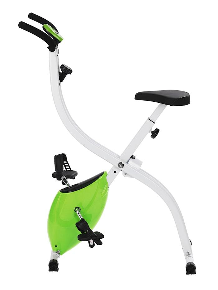 Vitalmaxx Hometrainer S-Bike, compact fitnessapparaat voor thuis, met trainingscomputer en 8 verschillende weerstanden, Zwart