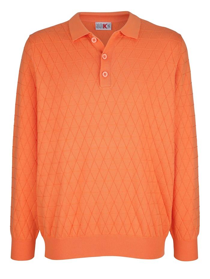 Roger Kent Tröja med stickat mönster, Orange