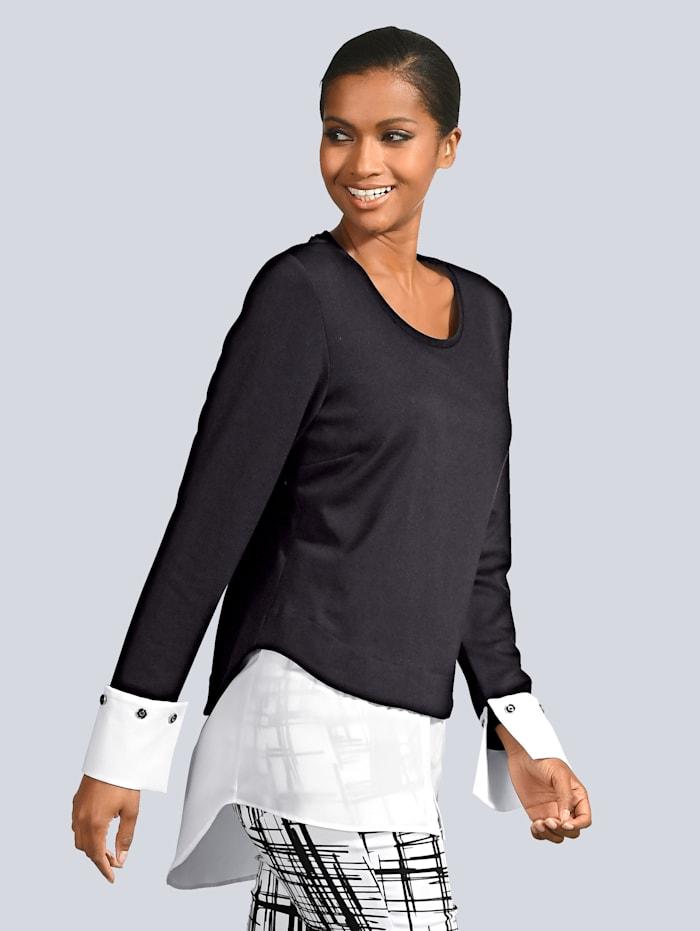 Shirt mit kontrasfarbenem Einsatz