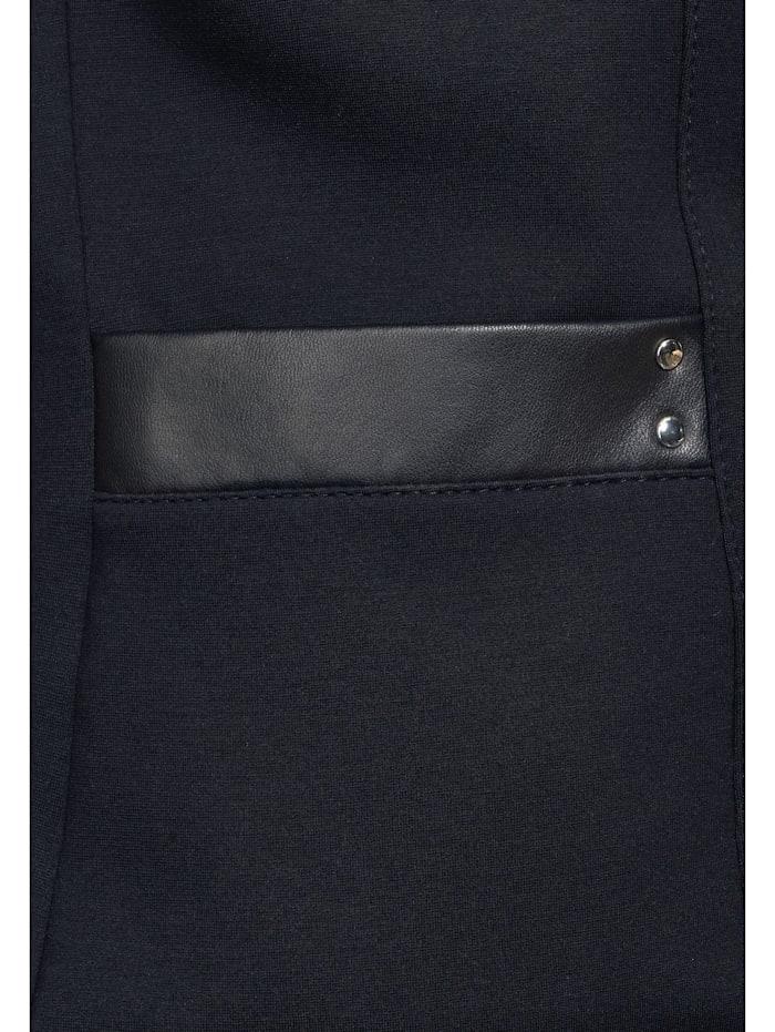 Blazer mit PU-Details