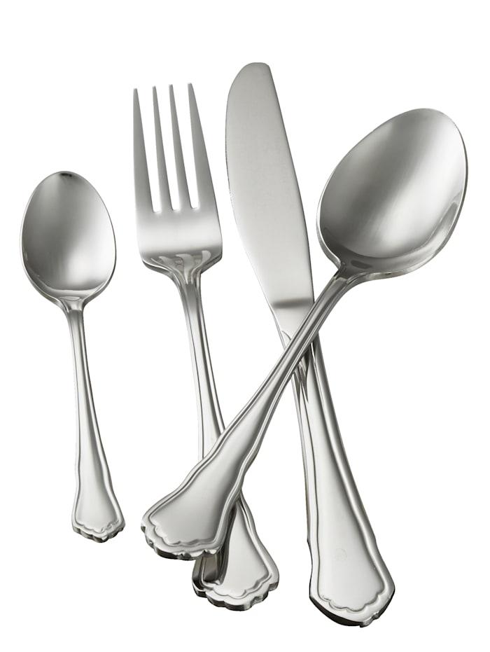 Mulex Bestickset i 30 delar Chippendale, silverfärgad