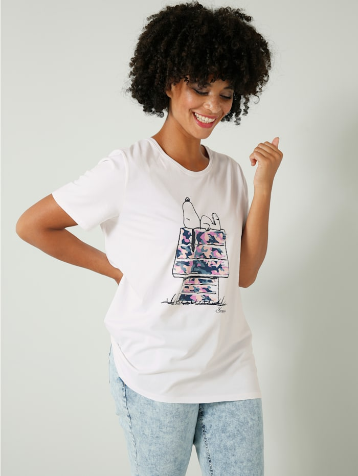 Angel of Style Shirt van katoen met stretch, Wit