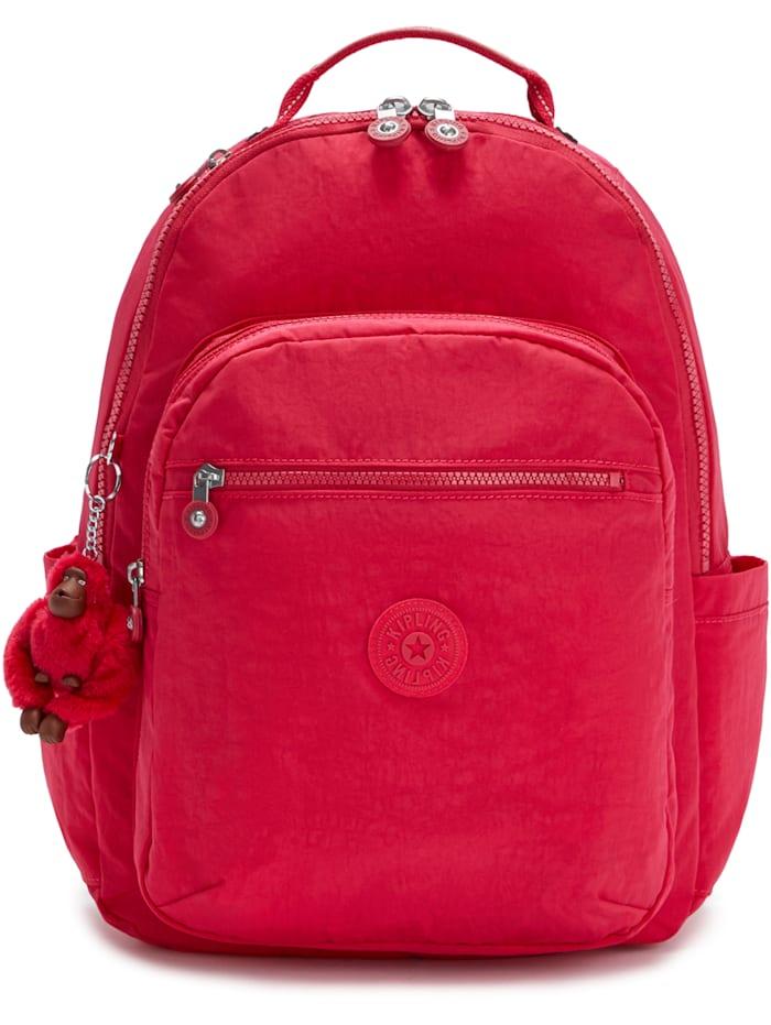 Kipling Back To School Seoul Rucksack 44 cm Laptopfach, true pink