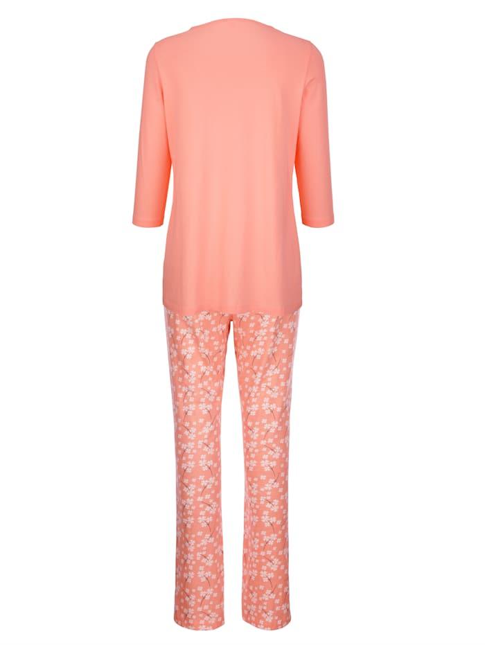 Pyjama met vrouwelijke ruches