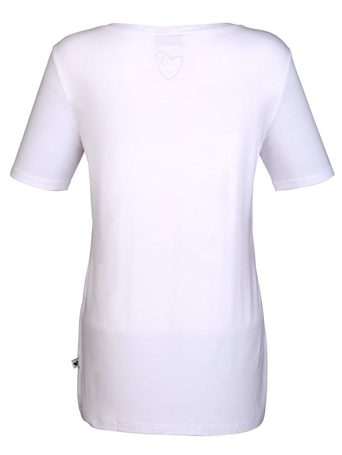 Shirt mit  Samtdruck