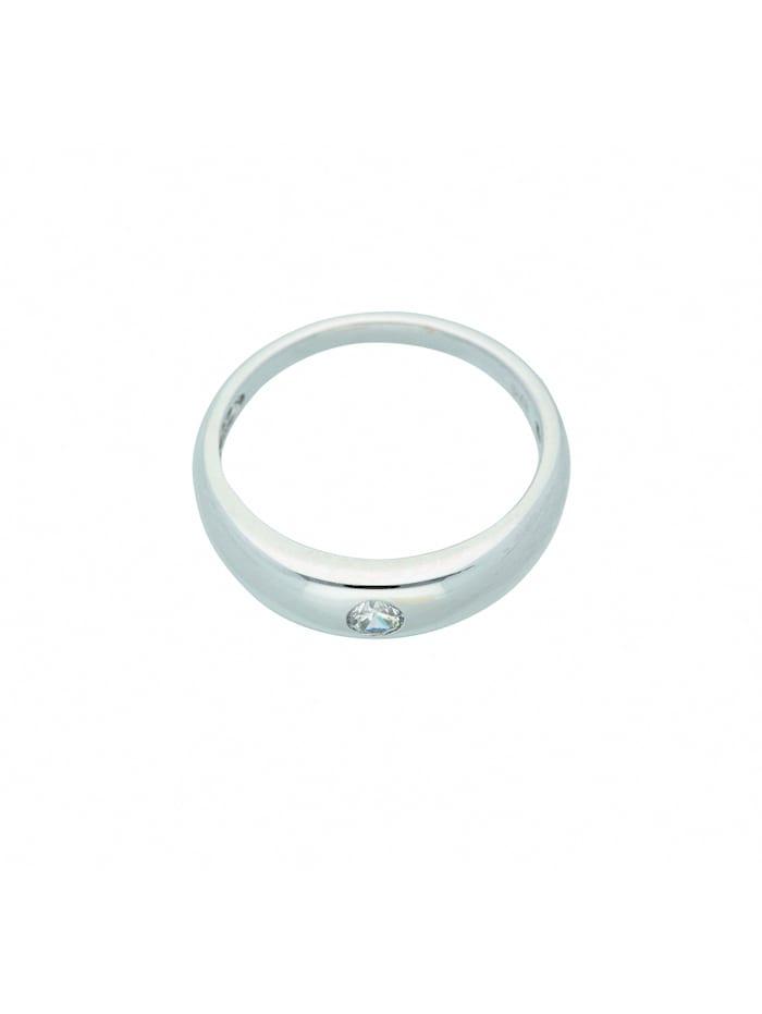 1001 Diamonds Damen Weißgoldschmuck 375 Weißgold Anhänger mit Zirkonia Ø 11,2 mm, silber