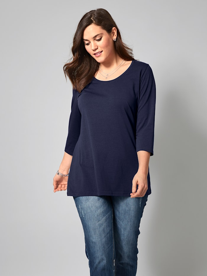 Janet & Joyce Basic Shirt, Marineblau