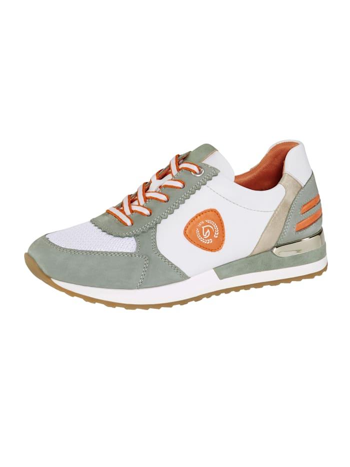 Remonte Sneaker in een harmonieuze kleurencombinatie, Mint