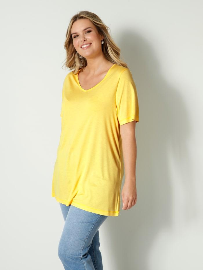 Janet & Joyce Shirt aus reiner Viskose, Gelb