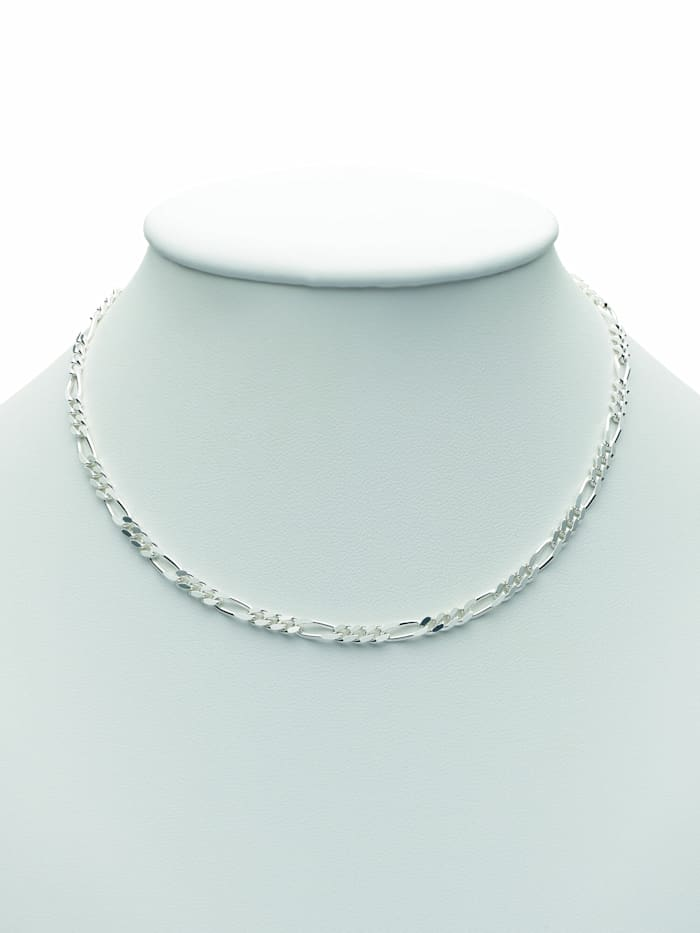 1001 Diamonds 1001 Diamonds Damen Silberschmuck 925 Silber Figaro Halskette 42 cm, silber