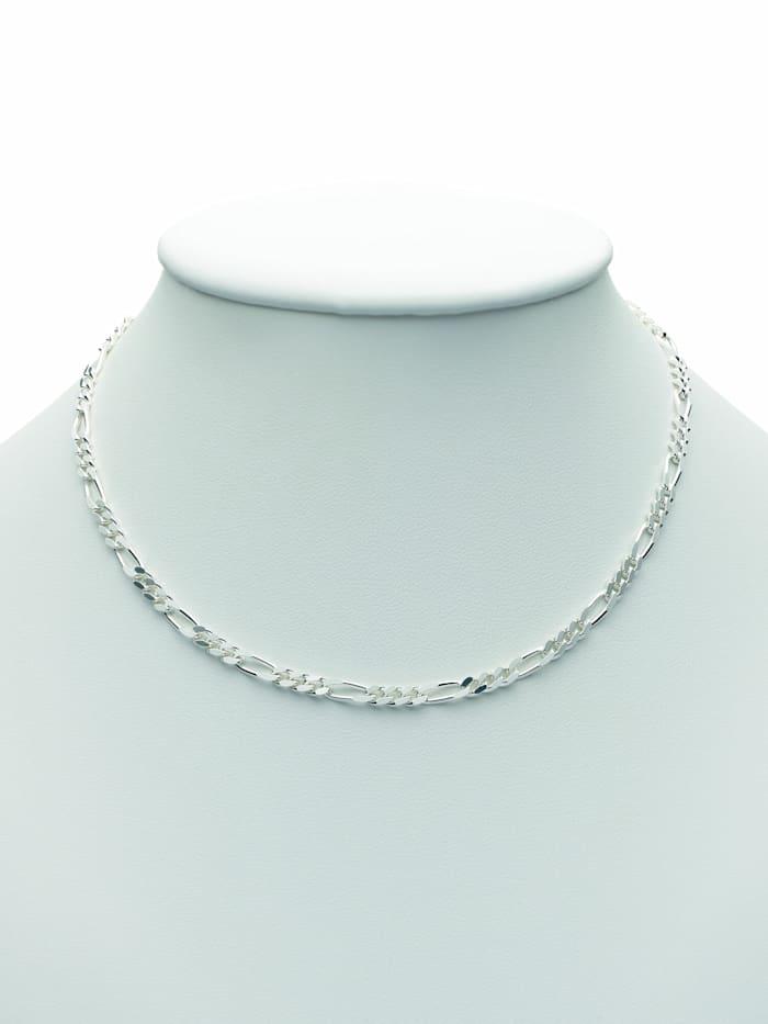 1001 Diamonds Damen Silberschmuck 925 Silber Figaro Halskette 60 cm, silber