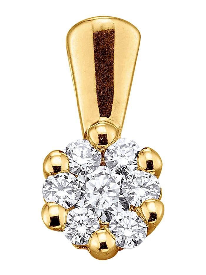 Diemer Diamant Anhänger mit Brillanten, Gelb