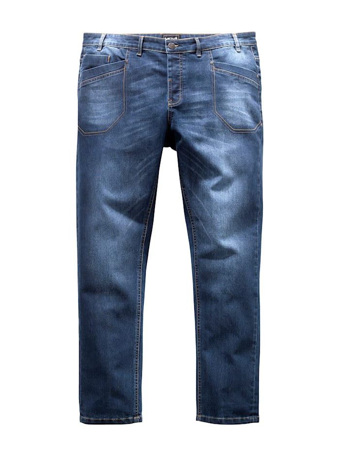 Men Plus Jeans med smal passform, Blue stone