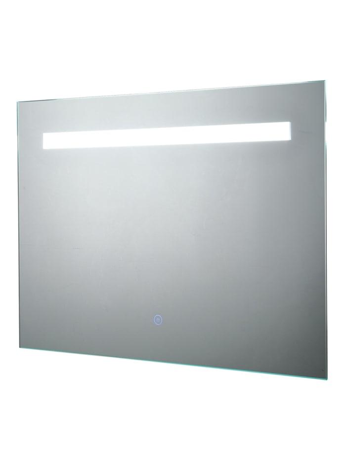 kleankin LED-Spiegel mit Touch-Schalter, silber