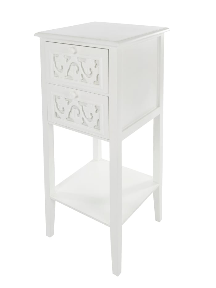 TopHome Beistelltisch 'Romantik', Weiß