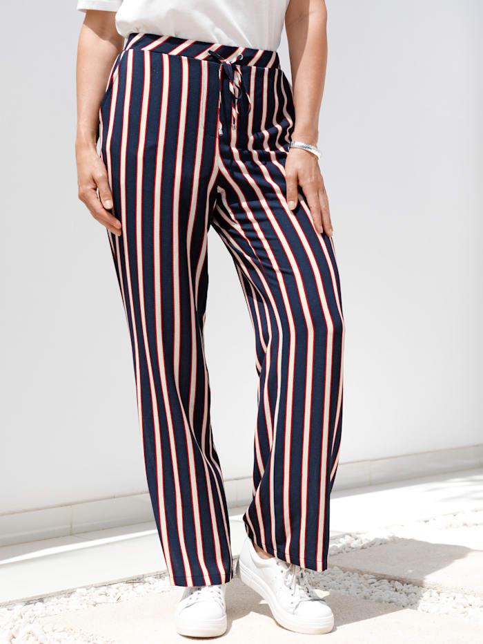 Pantalon en matière structurée légère
