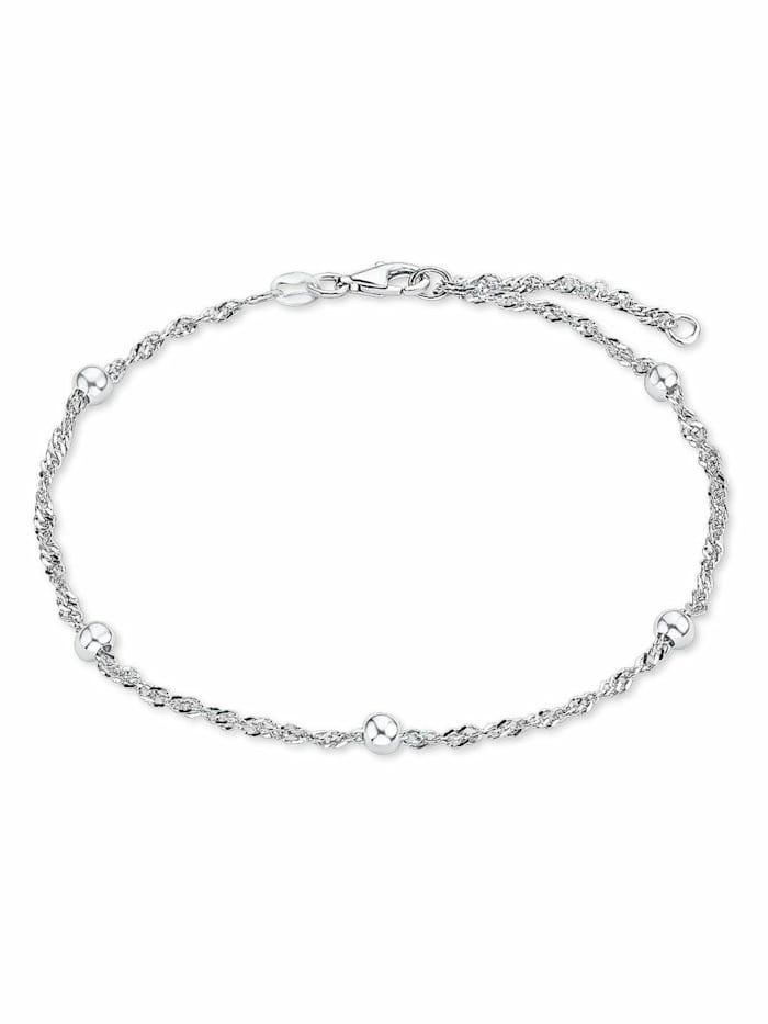 amor Fußkette für Damen, Sterling Silber 925, Kugel, Silber