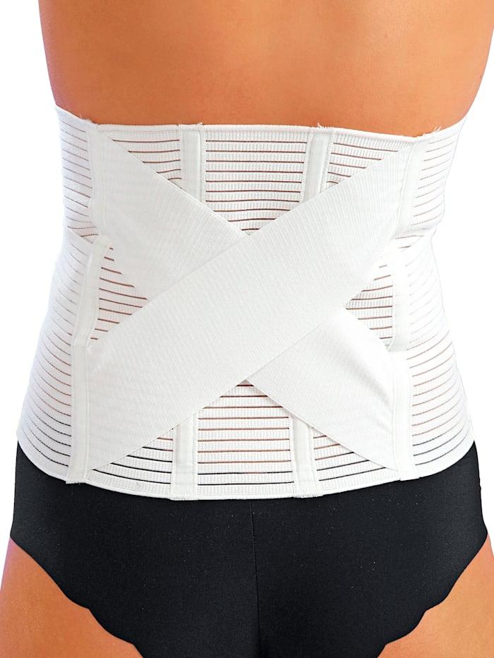 Hydas Ortopedický podporný pás na brucho a chrbát, biela