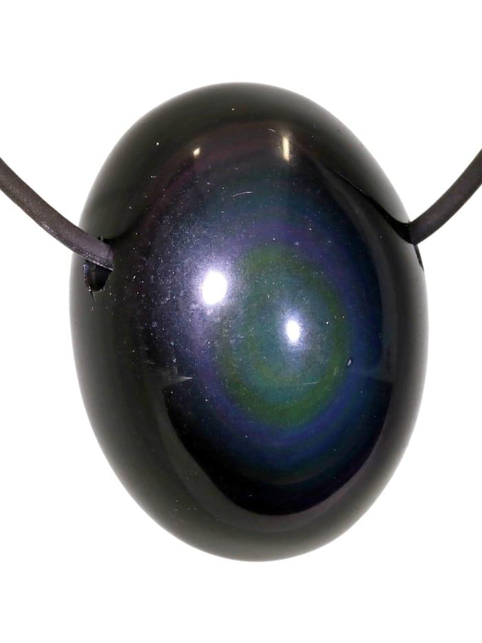 1001 Diamonds Regenbogen Obsidian Anhänger, bunt
