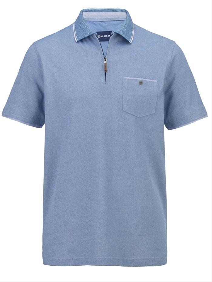 BABISTA Poloshirt in zweifarbiger Piqué Qualität, Blau