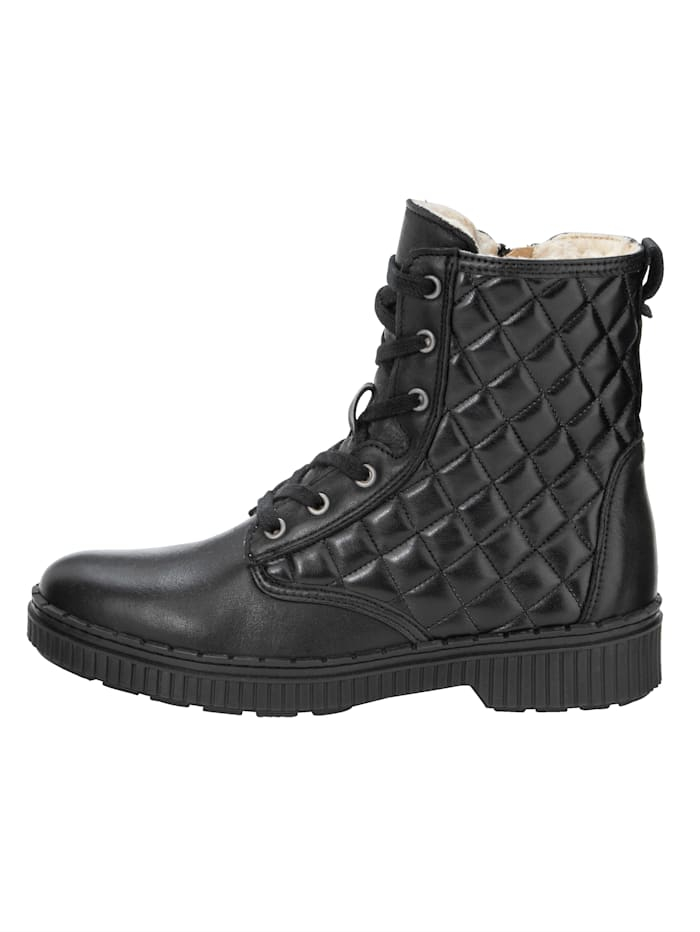 Lace-up Boots with a classic diamond stitch