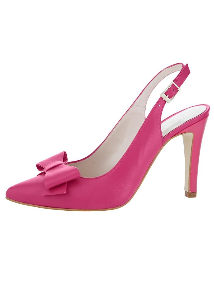 Gennia Sling aus weichem Lammnappaleder, Pink