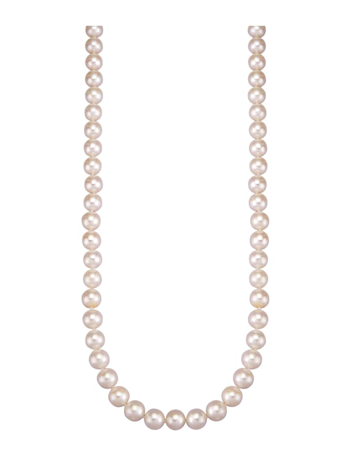 Diemer Perle Süßwasser-Zuchtperlen-Kette, Weiß