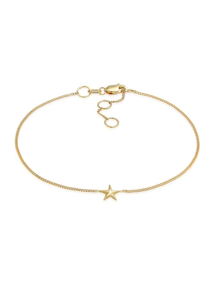 Elli Premium Armband Stern Star Strahlen Himmlisch 375 Gelbgold, Gold