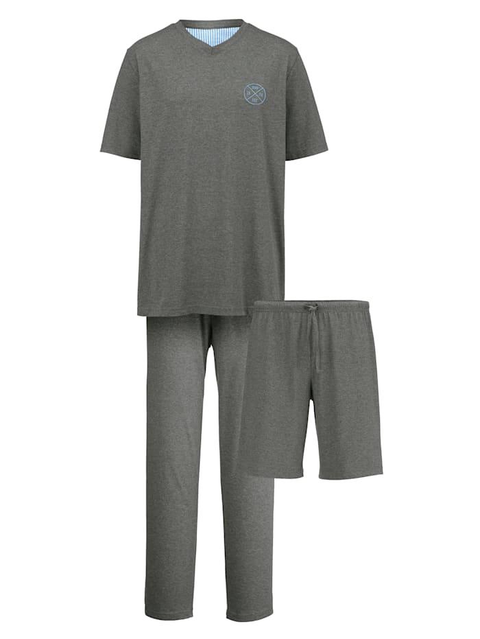 Schlafanzug mit zwei Hosen Set