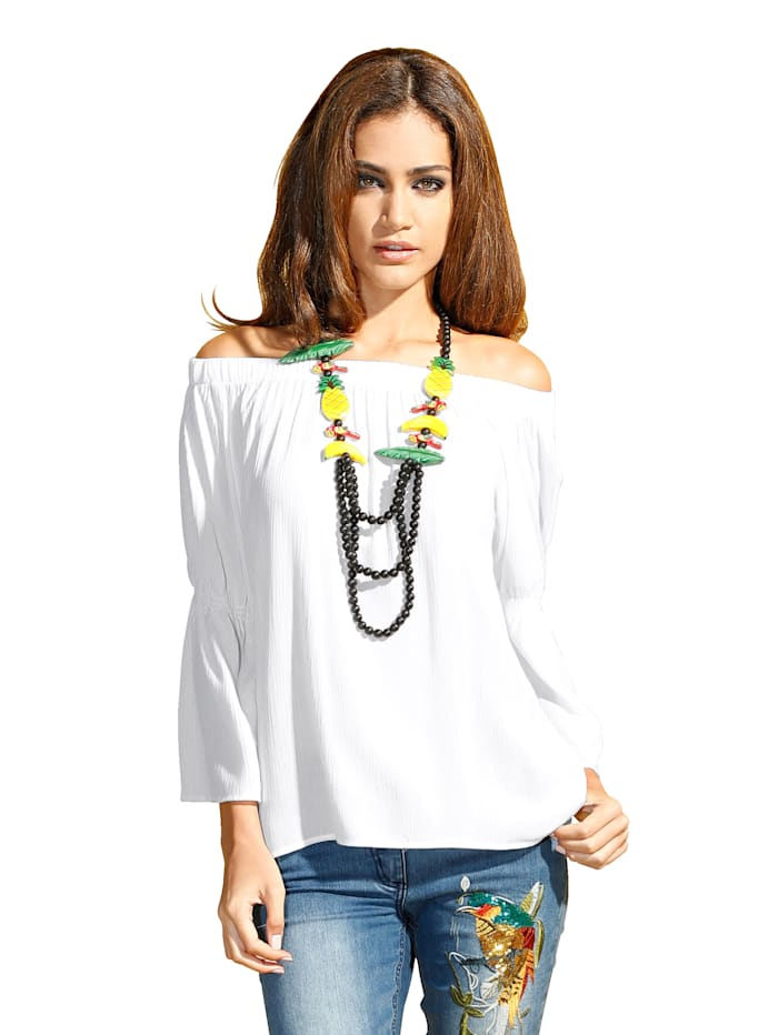 AMY VERMONT Bluse als Carmenbluse tragbar, Off-white