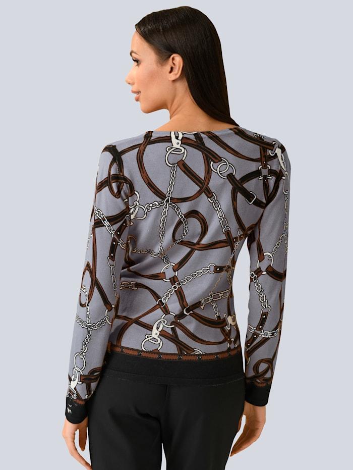 Pullover allover mit Kettenprint