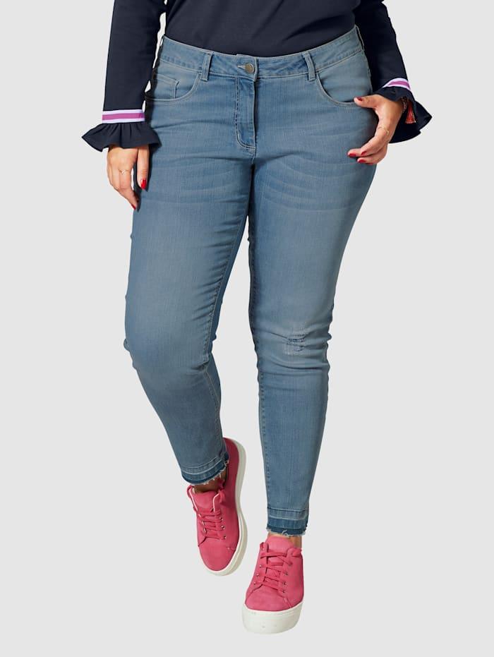 Angel of Style Slim Fit Jeans knöchellang, Denim