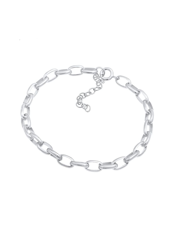 Armband Charmträger Gliederarmband Oval Basic 925 Silber