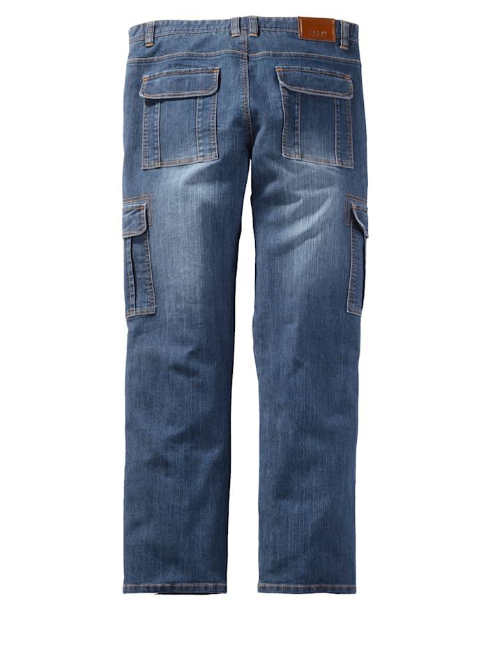 Jeans med cargofickor