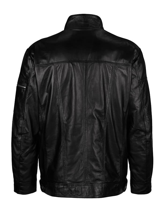 Kožená bunda z mäkkej jahňacej kože