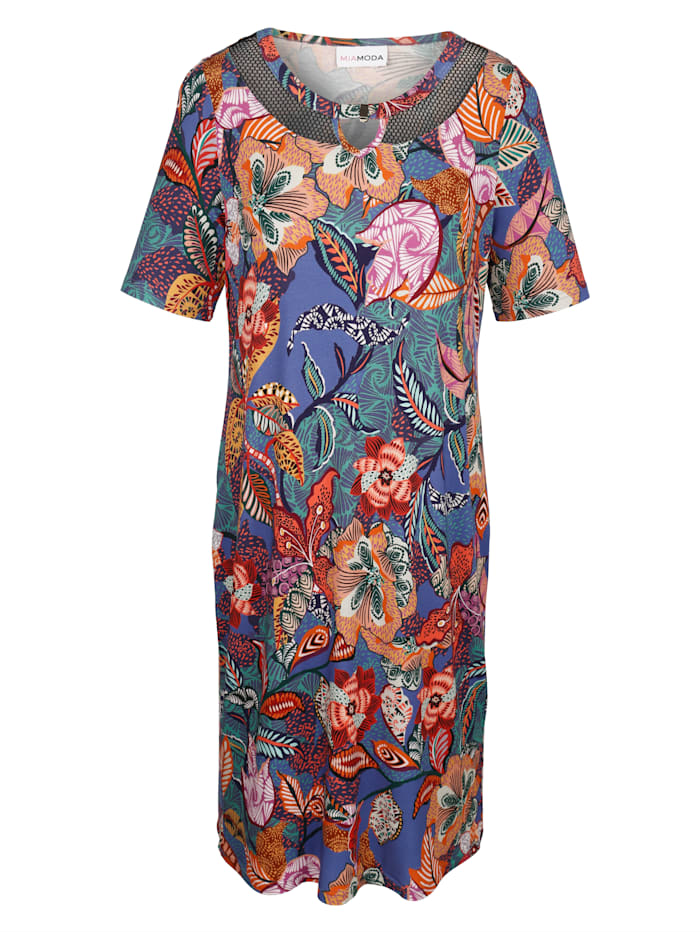 MIAMODA Kukkakuvioitu mekko, Monivärinen
