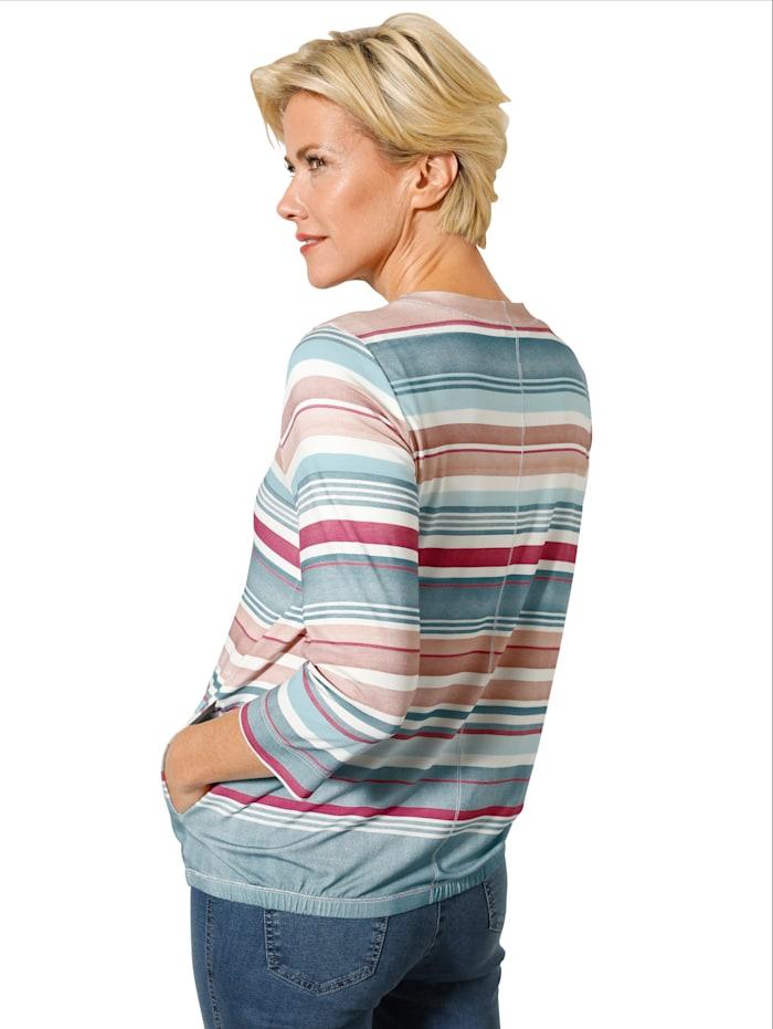 Shirtjacke mit dekorativen Verlaufsringeln