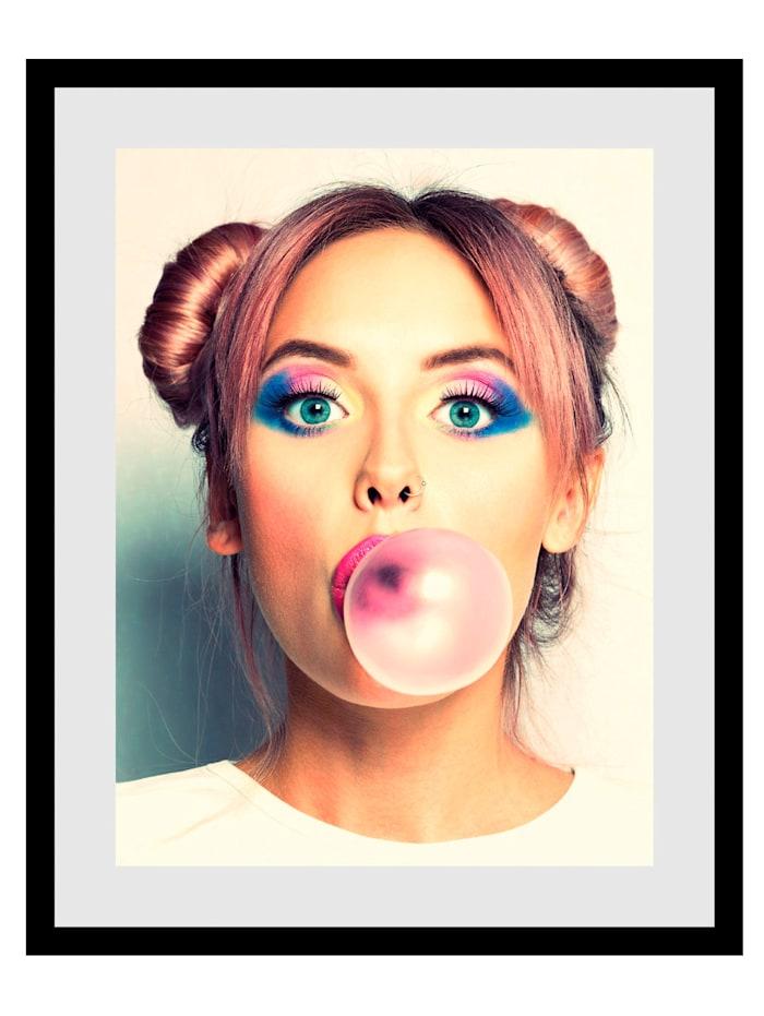 IMPRESSIONEN living Rahmenbild, Bubble, braun, weiß