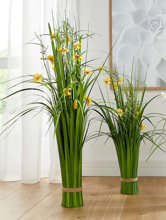 Globen Lighting Buisson d'herbe avec fleurs, Jaune