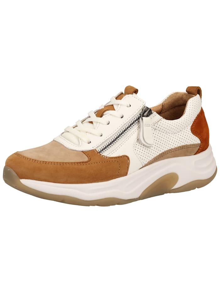 Gabor Gabor Sneaker, Beige/Weiß
