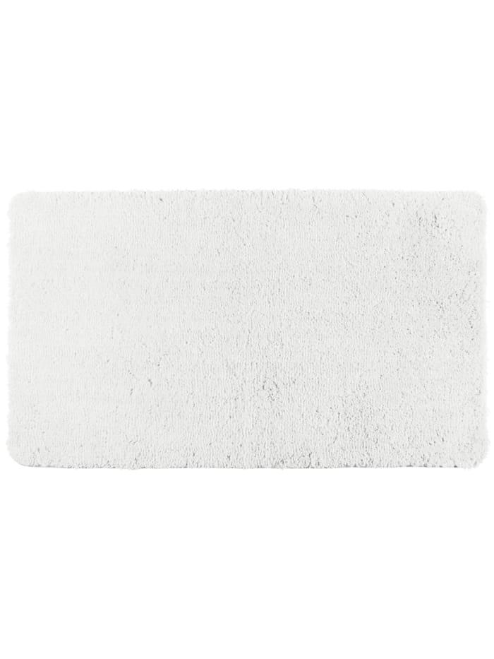 Wenko Badteppich Belize Weiß, 55 x 65 cm, Mikrofaser, Polyester/Mikrofaser: Weiß
