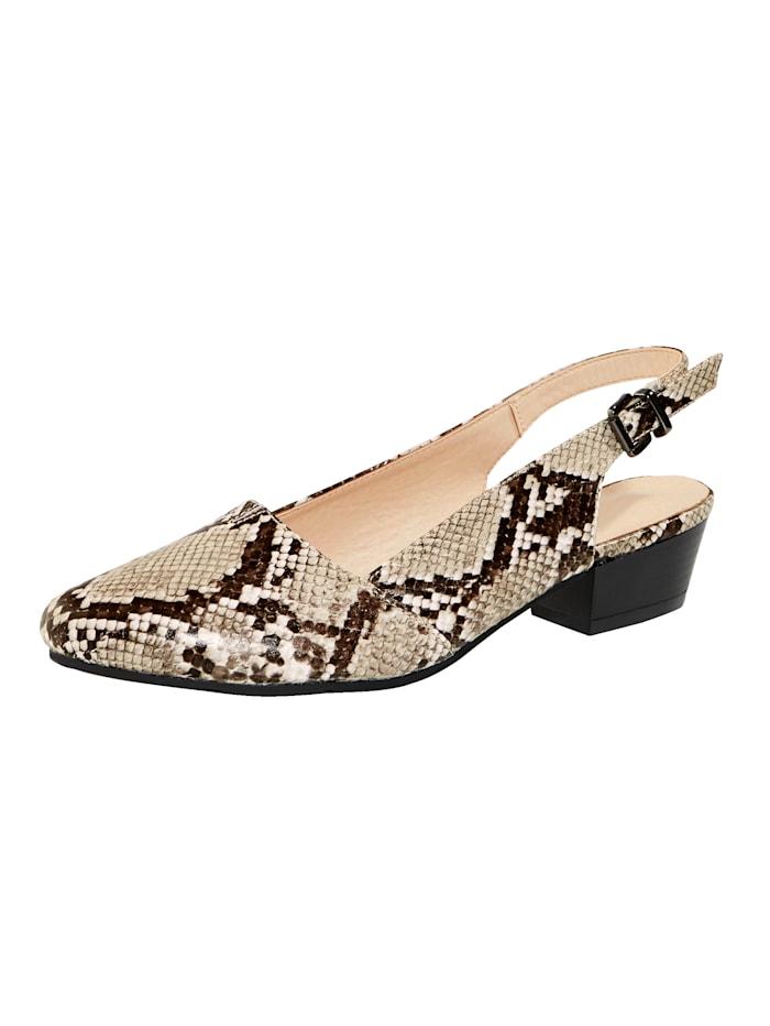 Matelijakuosiset sling-kengät