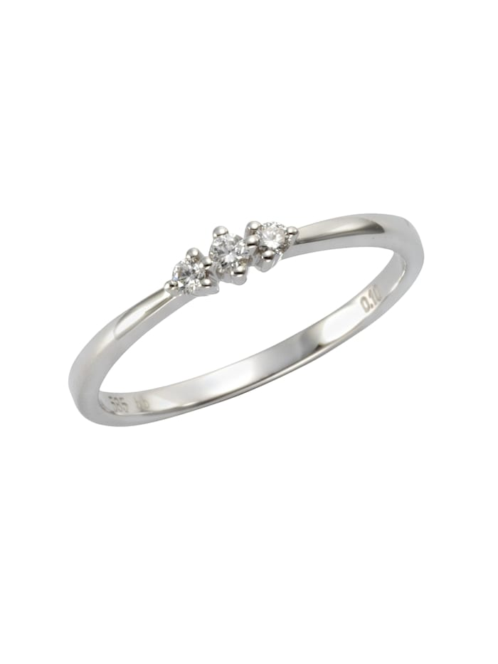 Orolino Ring 585/- Gold Brillant weiß Brillant Glänzend 0,10ct. 585/- Gold, weiß