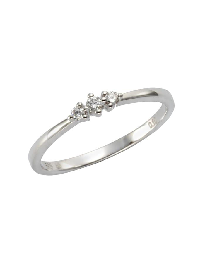 Orolino Ring 585/- Gold Brillant weiß Brillant Glänzend 0.10Karat 585/- Gold, weiß